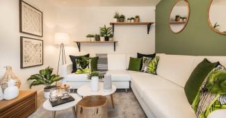 ev dekorasyonu, dekorasyonda yeşil renk kullanımı, yeşil renk ve dekorasyon